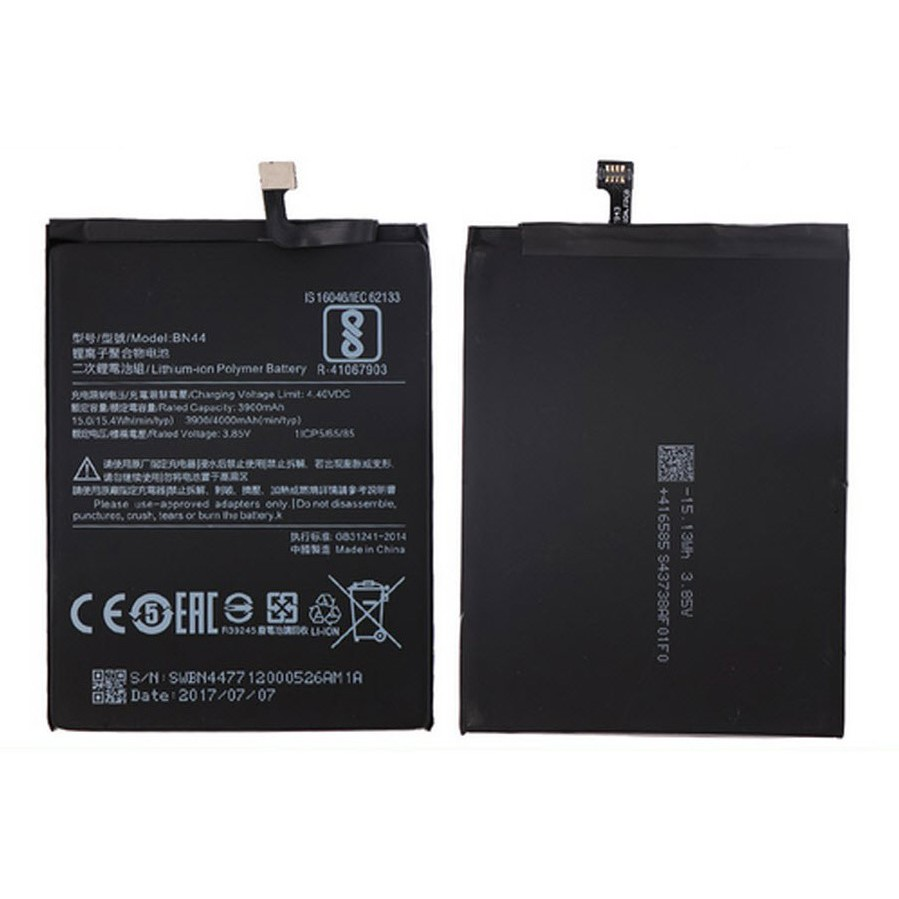 Battery  Xiaomi  Redmi  5  plus  /  Redmi  Note  5  /  BN44  รับประกันนาน  3  เดือน