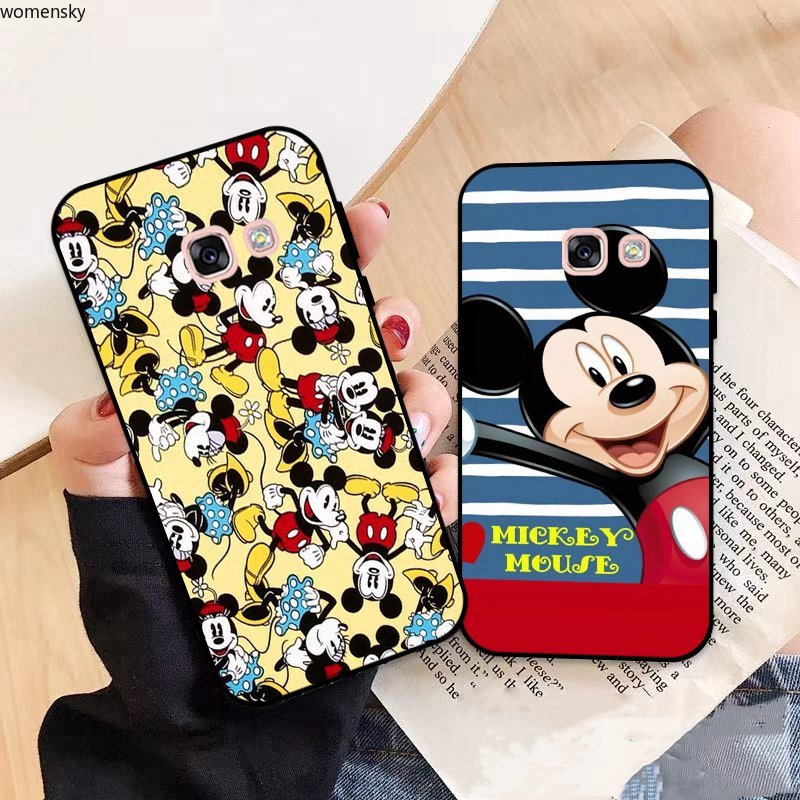 Samsung A3 A5 A6 A7 A8 A9 Pro Star Plus 2015 2016 2017 2018 Disney Pattern-4 Silicon Case Cover