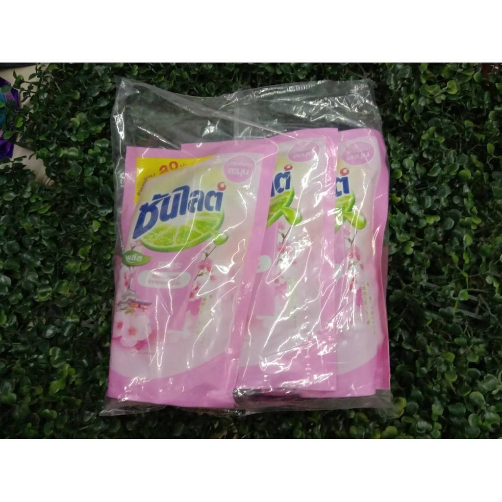 น้ำยาล้างจาน ซันไลต์ กลิ่นซากุระ ขนาด 300ml/ถุง แพ็คละ3ถุง
