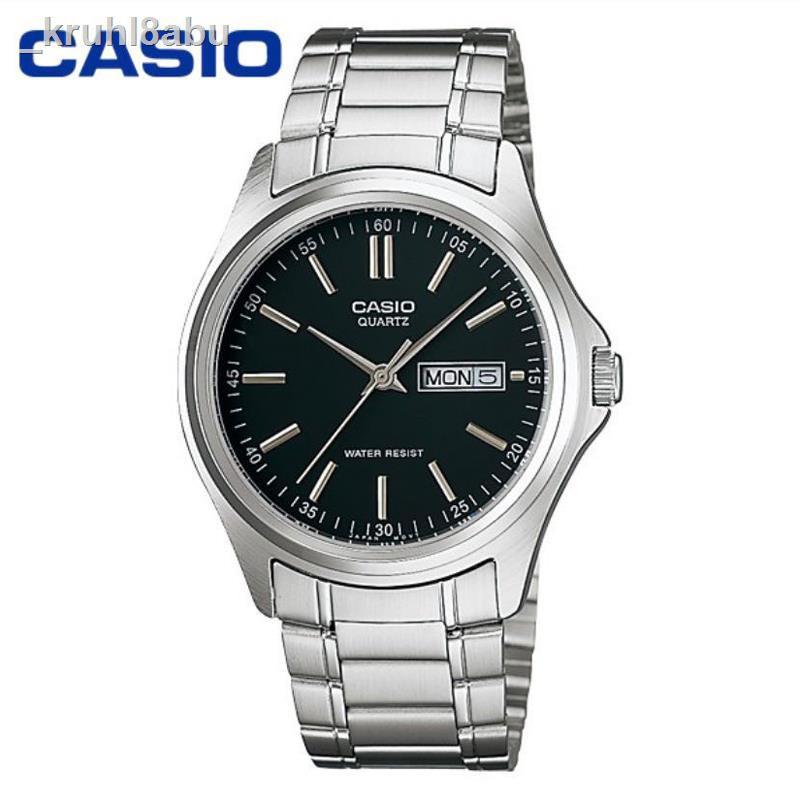 นาฬิกาข้อมือสุภาพสตรี❒Casio Standard นาฬิกาข้อมือสุภาพบุรุษ สายสแตนเลส รุ่น MTP-1239D-1A - สีดำ1