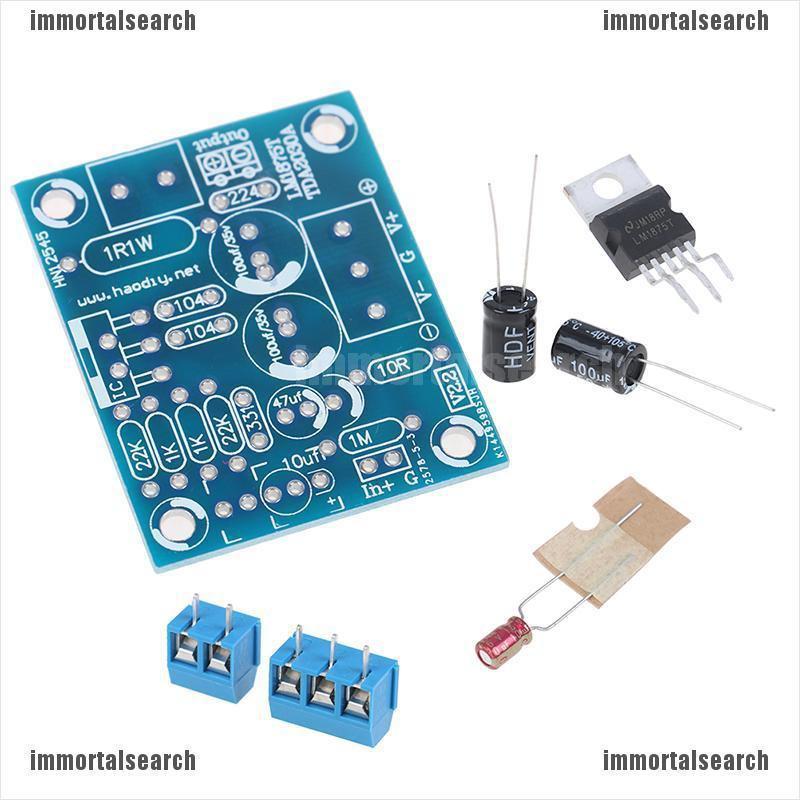 1Set 20W LM1875T Mono Channel Stereo Audio HIFI Amplifier Board Module DIY Kit C
