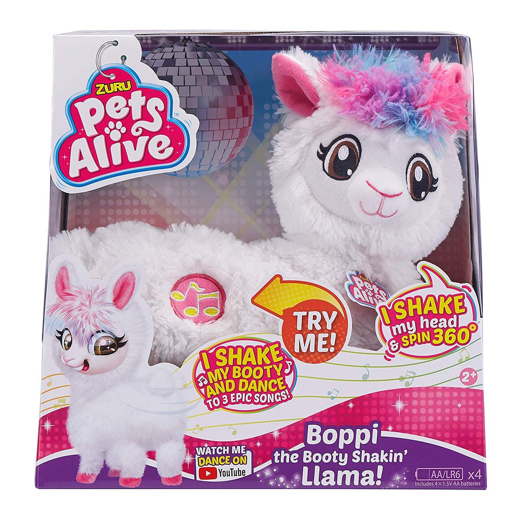 New  BOPPI THE BOOTIE SHAKIN LLAMA PETS ALIVE MADE BY ZURU NEW 2019 ❤