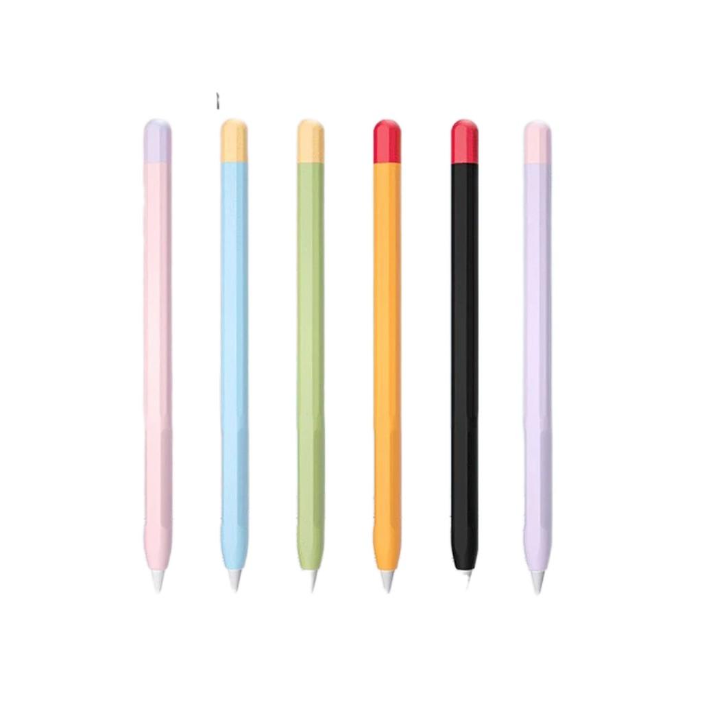 🤩►เคสซิลิโคน สำหรับ ApplePencil 1/2 ซิลิโคนหุ้มปากกาไอแพด ปกป้อง หลากสีสัน