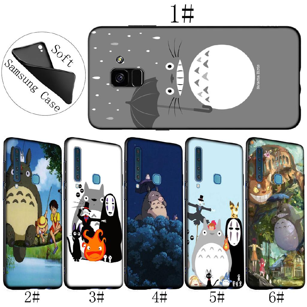Samsung Galaxy J6 A6 Plus A7 A8 A9 2018 Note 9 8 My Neighbor Arriving  Totoro Anime Phone Case