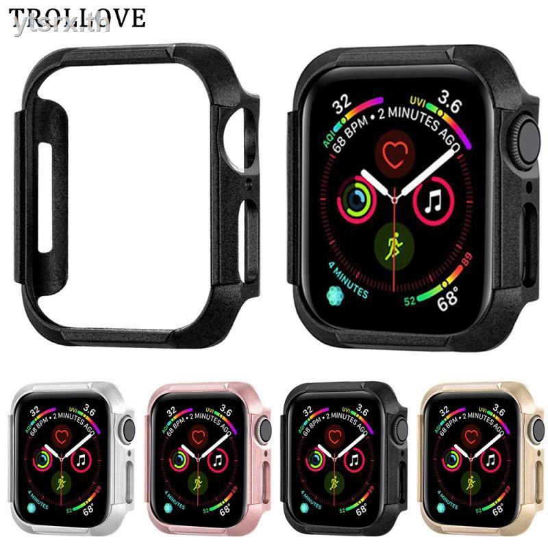 เคสพร้อมกระจกกันรอยคลุมรอบหน้าจอ Apple watchเคส Apple Watch Caseเคสนาฬิกา Apple Watch Series 5 4 Protective Case Hard for Apple Watch 44mm 40mm