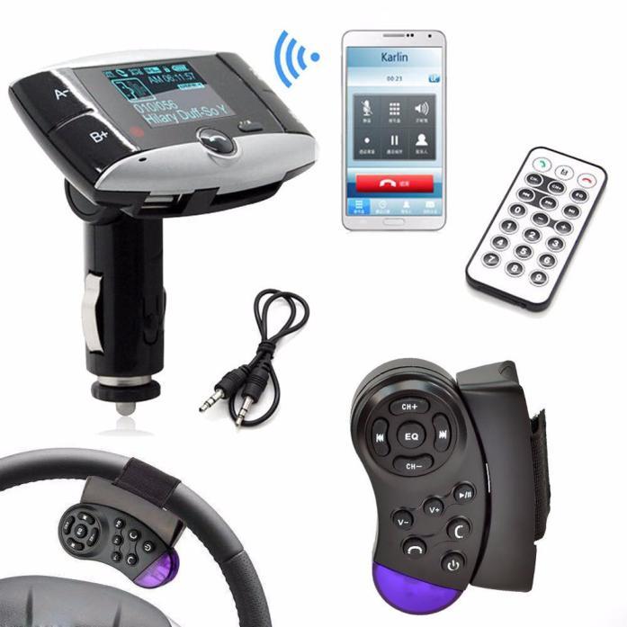 Bluetooth Wireless LCD Car Kit MP3 Player FM Transmitter Modulator SD MMC USB