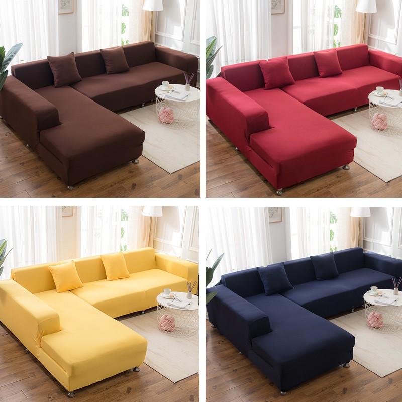 ผ้าหุ้มโซฟา ผ้าคลุมโซฟา 1 / 2 / 3 ที่นั่ง โซฟารูปตัว l ปกตกแต่งบ้าน Universal Sofa Cover Slipcover Elastic