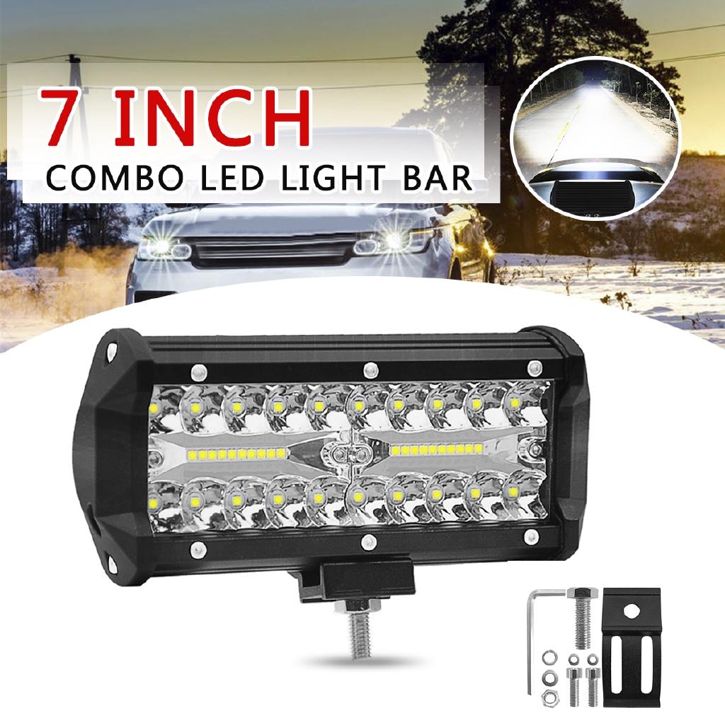 2 x 7 Inch 120W 40 LED Work Light Truck Car Spot Light SUV Truck IP68 12V 24V
