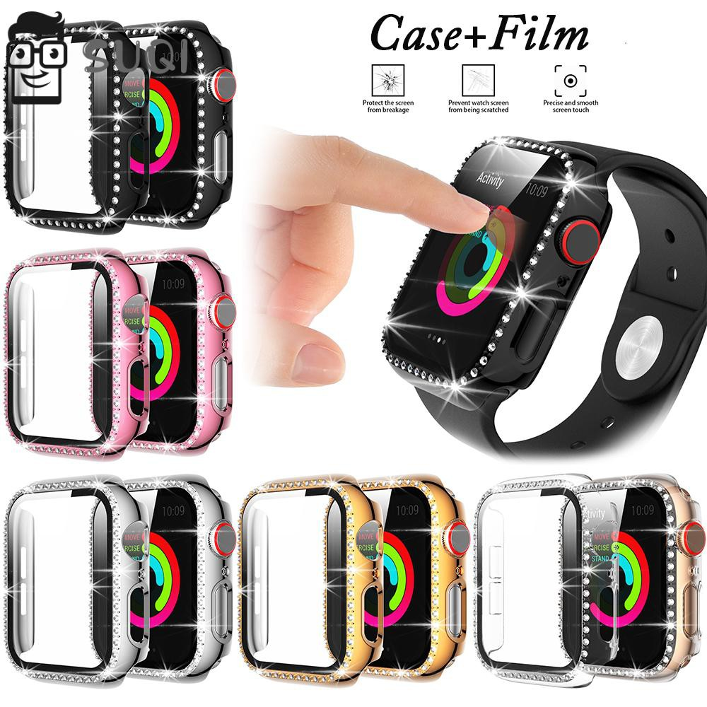 SUQI Diamond Full Cover Protective Case For Apple Watch 6 SE 5 4 40mm 44mm