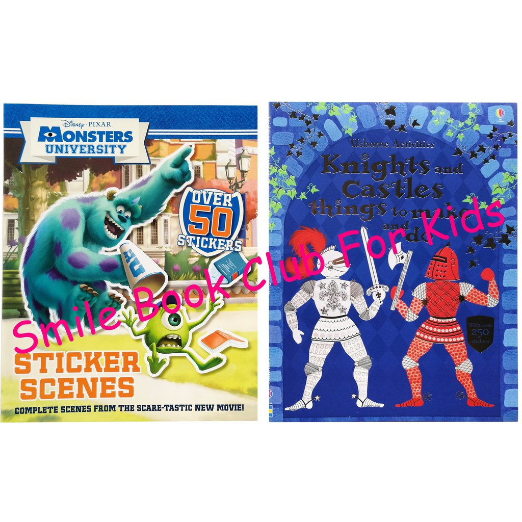 [In Stock] Usborne and Disney Activity Books - 2 Books - Knights and Castles / Monsters University