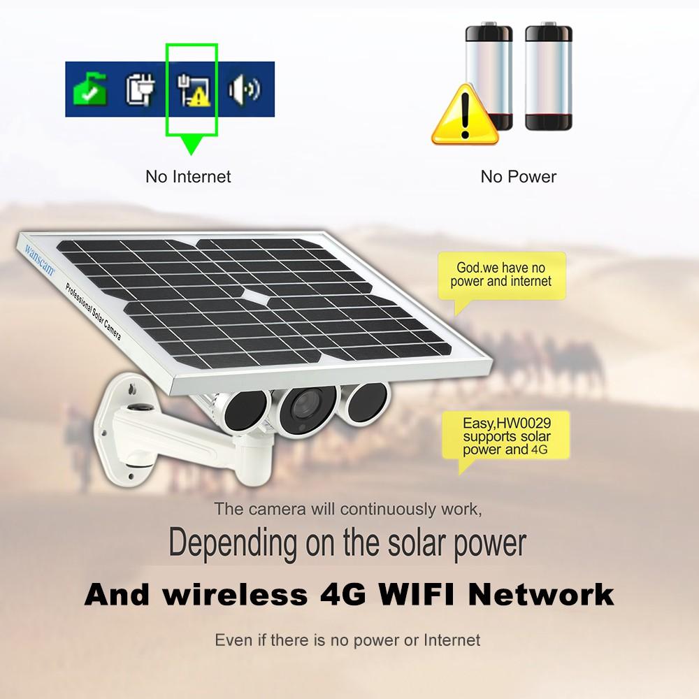 WANSCAM 1080 P Solar Power IP กล้อง 4 G Wireless WiFi IP