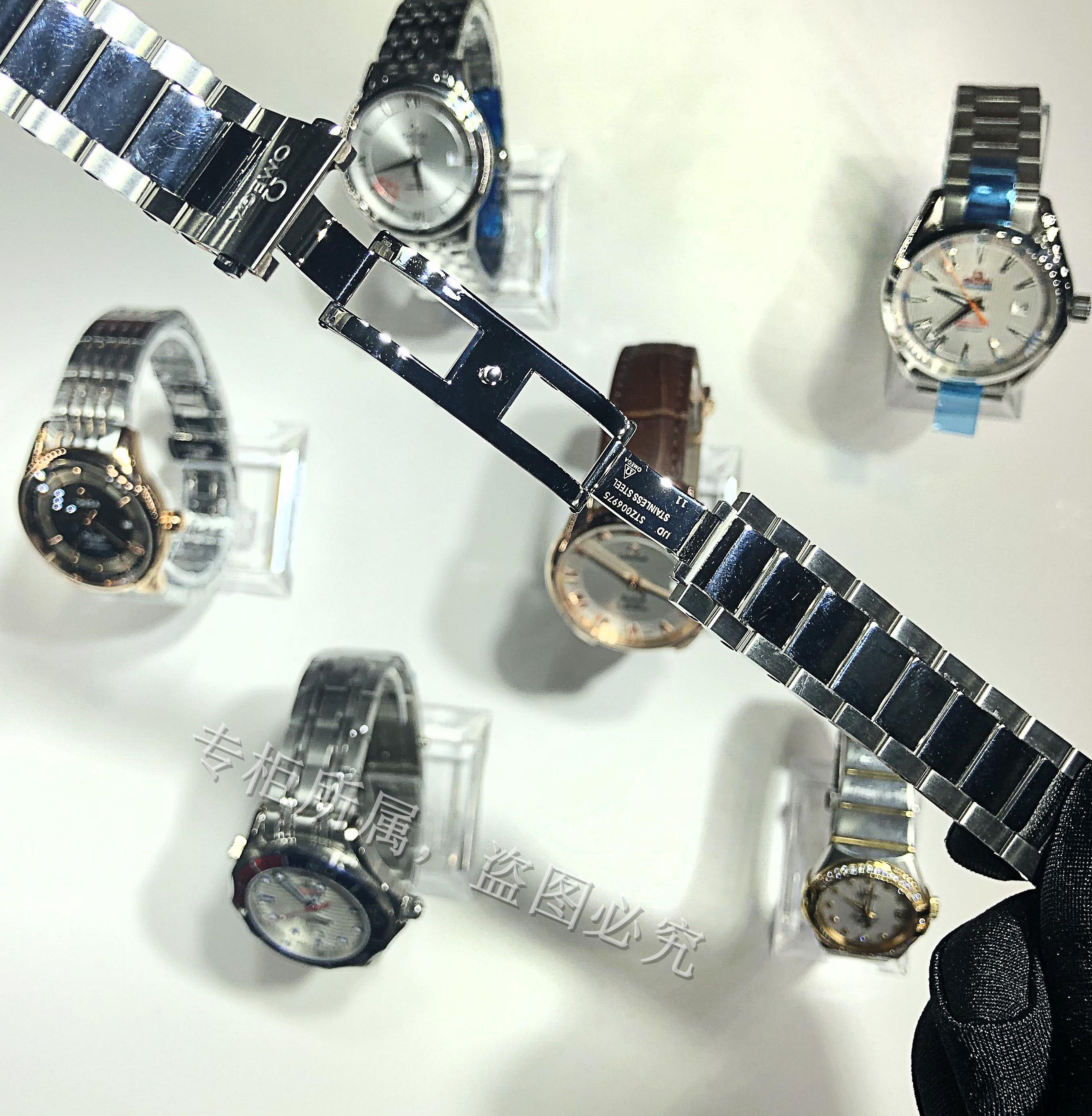 ⅙♓สายนาฬิกา smartwatchสายนาฬิกา gshockสายนาฬิกา applewatchOMEGA STRAP Original hippocampus Seriesสแตนเลสแท้นาฬิกาผู้ชายโ