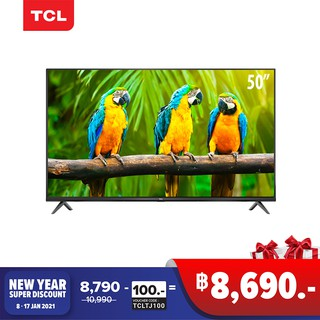 TCL TV 50 นิ้ว LED 4K UHD Android9.0 Smart TV (รุ่น 50T5000A)Google assistant-Free voice search remo