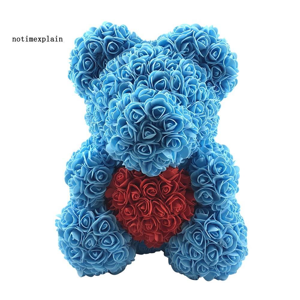 Rose Bear 25 Foam Flower Lovely Teddy Christmas Valentine Birthday Gift Hot