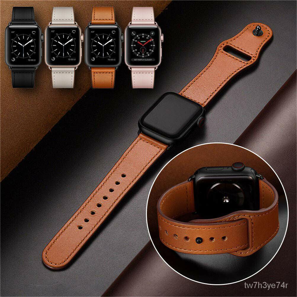 สายนาฬิกา applewatch สาย applewatch สาย applewatch แท้ สำหรับ Apple Watch Apple Watch นาฬิกา SE/6/5/4/3/2/1สายหนังย้อนยุ