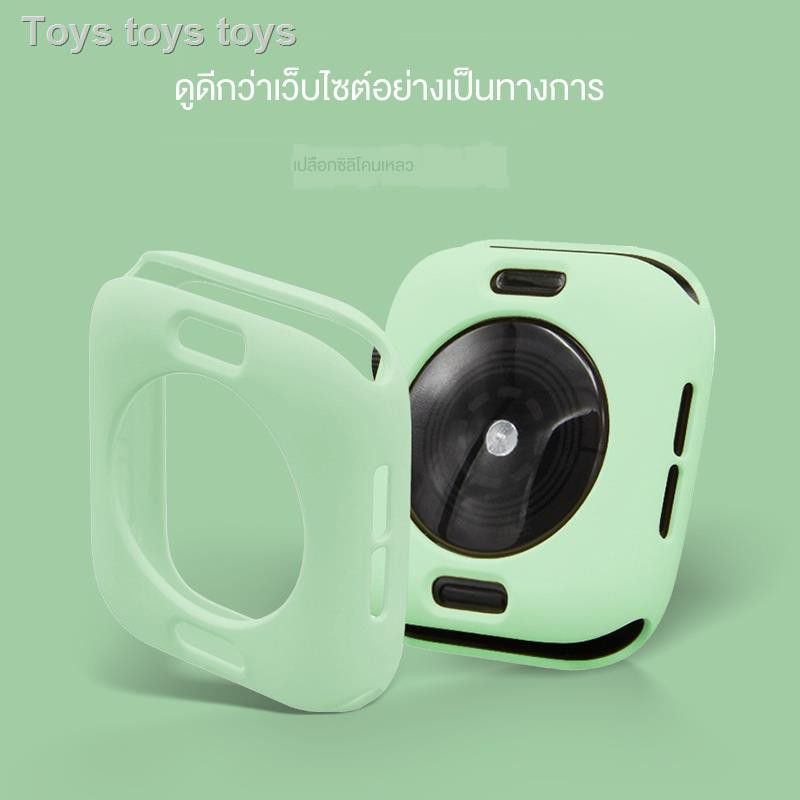 Airpods caseซิลิโคนครอบใสฮาร์ด caseเคสAirPods1/2 Case Iwatch protective shell Apple watch 4/5 generation cover watch1/2/3 accessories 38/42mm40/44 all-inclusive silicone case soft drop-proof waterproof genuine strap