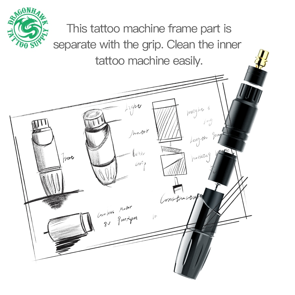 Dragonhawk Mast Permanent Makeup Machine Rotary Pen Eyeliner Tools Tattoo Machine Pen Style Accessories For Tattoo ลดเหล อ 2 653