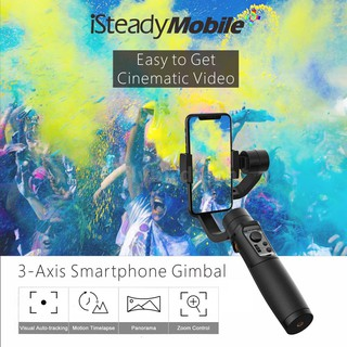 Hohem iSteady Mobile+ 3-Axis Handhele Stabilizing Gimbal Support Visual Auto-tracking Motion Timelapse Panoramic Photogr