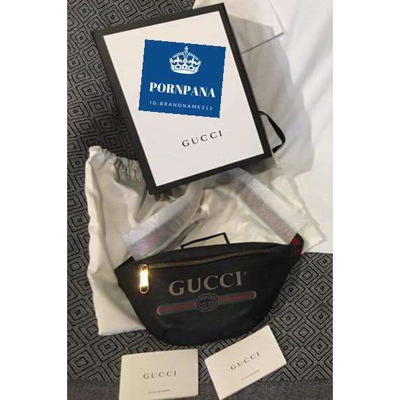กระเป๋าคาดอกGucci Logo Belt Bag ไซส90ค่ะ สีดำ นัดรับของได้ในกทม.