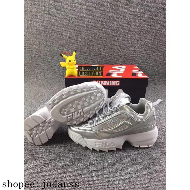 Original Fila รองเท้าผ้าใบรองเท้าวิ่งสำหรับผู้หญิง