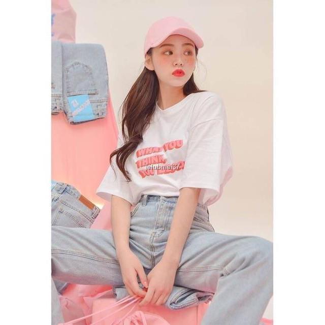 ราคาขายส่ง●❣AMITY- เสื้อยืด Oversize : What .. 🍬 เสื้อโอเวอร์ไซส์ เสื้อเกาหลี เสื้อoversize