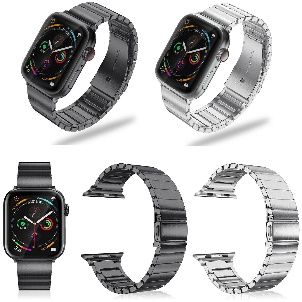 iWatch Apple Watch Series 5 40mm 44mm Band Stainless Steel Wristband Metal Strap 9OHU