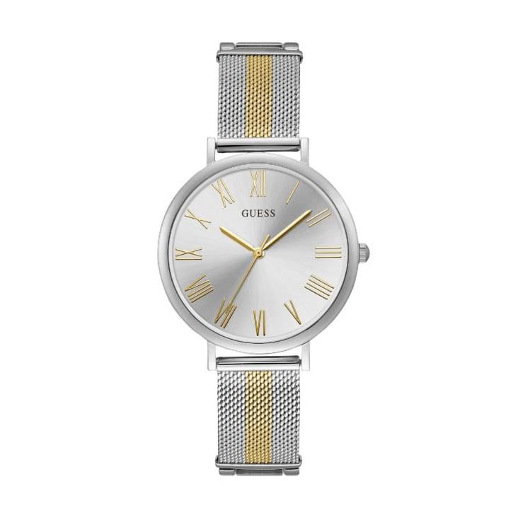 GUESS นาฬิกาข้อมือ Lenox รุ่น W1155L1 สีเงิน-ทอง