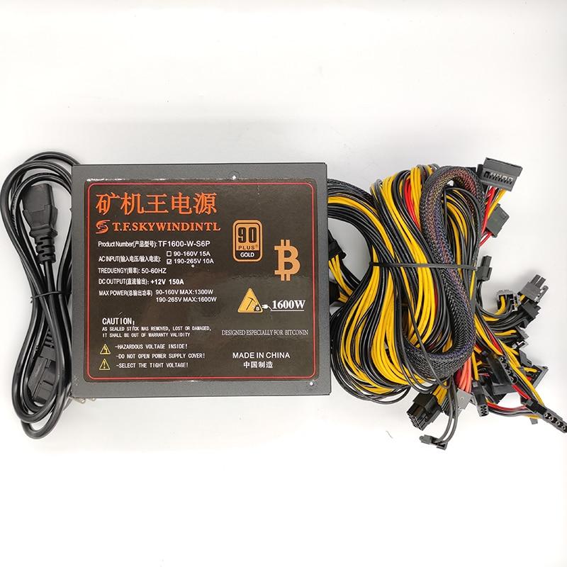 (In Stock)1600W ATX Computer PC PSU  PC Power Supply BTC/ETH Mining Power Supply 6 GPU Gaming Desktop bitcoin miner asic