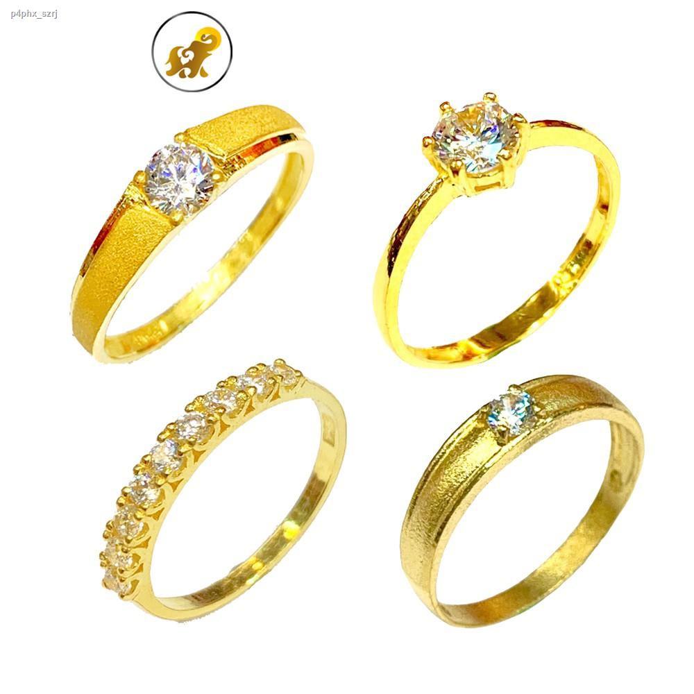 ราคาต่ำสุด㍿✻Flash Sale แหวนทองครึ่งสลึง เพชรสวิสเม็ดเดียว หนัก 1.9 กรัม ทองคำแท้ 96.5% มีใบรับประกัน