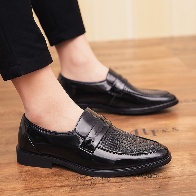 หนังวัวแท้ รองเท้าคัชชู รองเท้าผู้ชาย male polished leather Comfortable