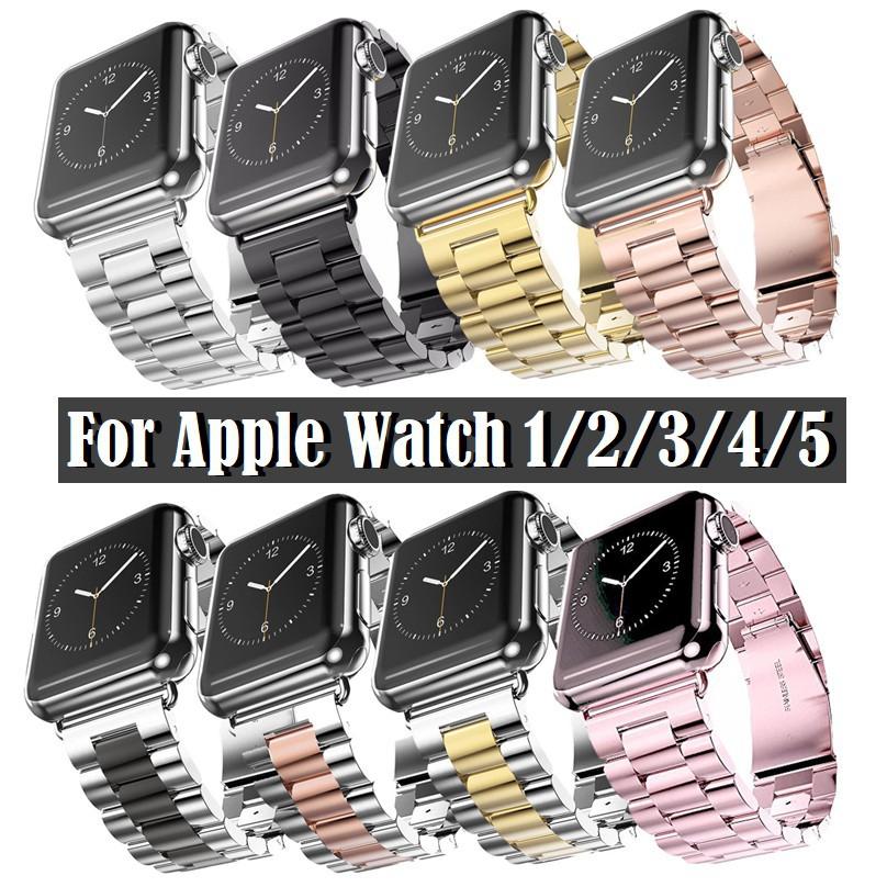 สาย applewatch สาย Applewatch เหล็กกล้า สายนาฬิกา Apple watch Series 6 5 4 3 2 1,Apple Watch SE Strap Stainless Steel Wa