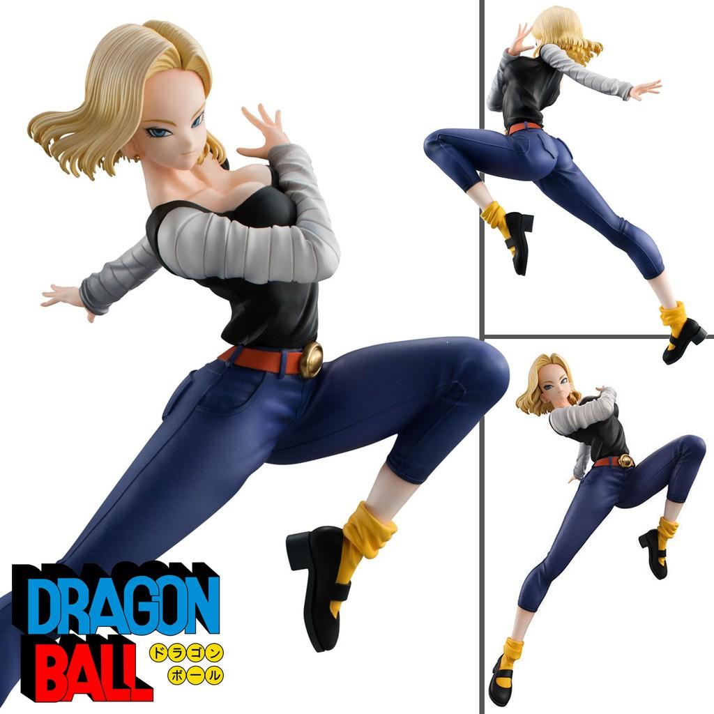 Figure ฟิกเกอร์ Model โมเดล Dragon Ball ดราก้อนบอล Gals lazuli Android 18 มนุษย์จักรกล หมายเลข 18