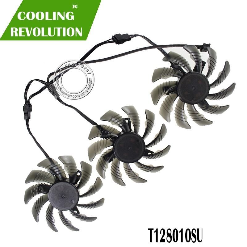กรุณาชำระเงินด้วย COD3pcs/set PLD08010S12HH Cooling Fan Gigabyte AORUS GTX 1060 1070 1080 G1 GTX 1070Ti 1080Ti 960 970 9