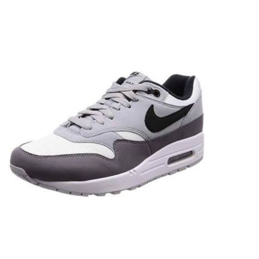 Just Do It Nike Air Max 1 MEN Airmax Ow Shoes, Grey / White