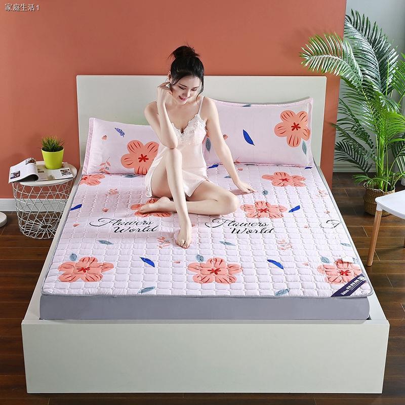 ☃┅ผ้ารองกันเปื้อน & topperบาง ที่นอนกันลื่น, ที่นอนบาง ผ้ารองกันเปื้อนที่นอน ขนาด 3.5 ฟุต 5 ฟุตและ 6