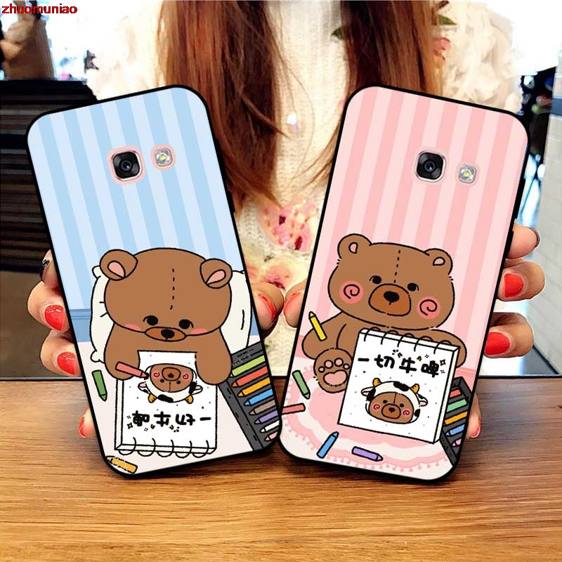 Samsung A3 A5 A6 A7 A8 A9 Pro Star Plus 2015 2016 2017 2018 HSTOJ Pattern-4 Silicon Case Cover