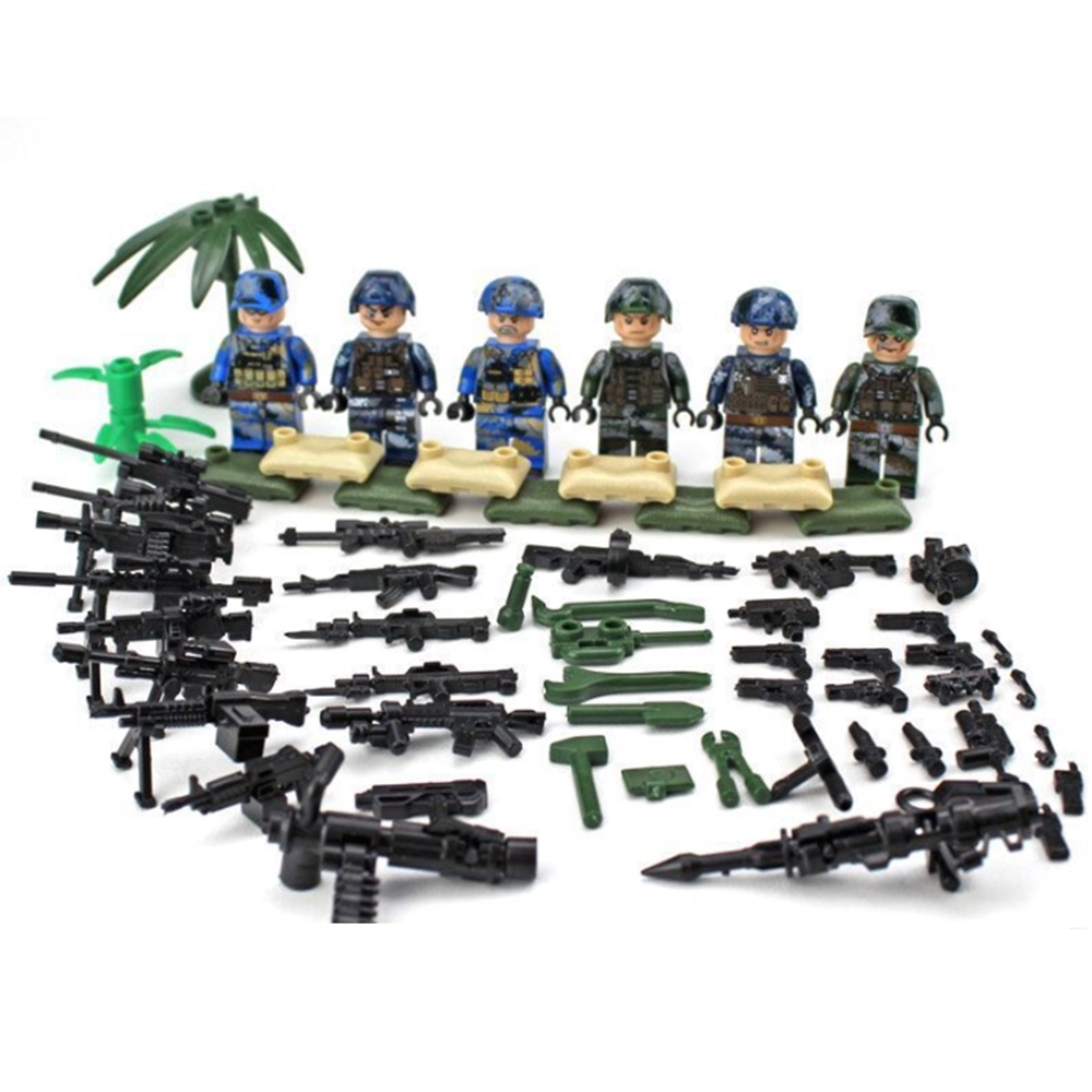 SWAT POLICE Building Block special forces Soldiers military blocks gift kids toy