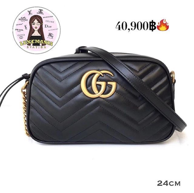 55f94ce8e8c New!! GG Marmont Camera Bag (24 cm.)