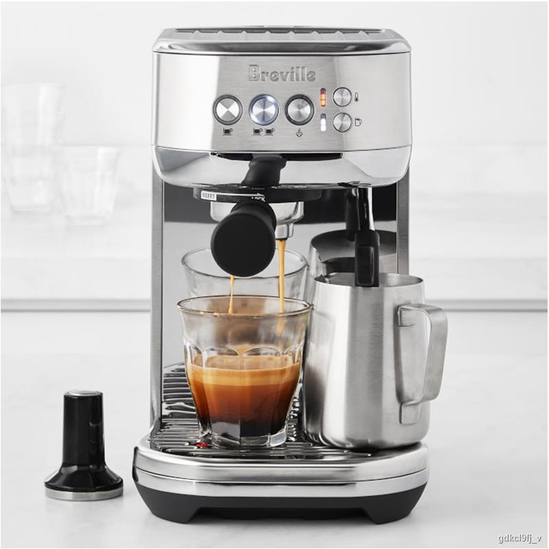 ♘✲Platinum Breville BES500 เครื่องชงกาแฟกึ่งอัตโนมัติอิตาลีเครื่องอบไอน้ำและเครื่องทำฟองนมในครัวเรือน