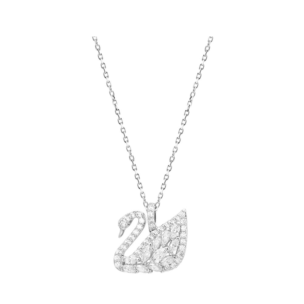 ระเบิดร้อน Swarovski หงส์คลาสสิก สร้อยคอขนาดเล็กสีขาวสีทองหญิง 5296469เพื่อส่งของขวัญให้แฟนสาวของเขา