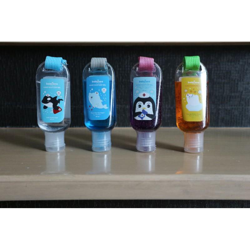แอลกอฮอล์เจลล้างมือ Babyzea Limited Edition พร้อมที่ห้อยติดกระเป๋า มี Moisturizer ทำให้มือไม่แห้ง เด็กใช้ได้ด้วยจ้า