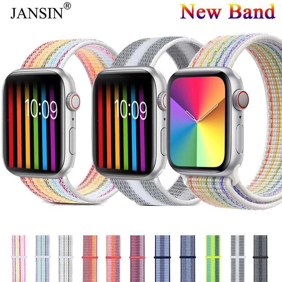 สาย applewatch สายนาฬิกา applewatch สาย apple watch สายนาฬิกาข้อมือไนล่อน Apple Watch 6 44 40 38 42 มม series 6 se 5 4 3