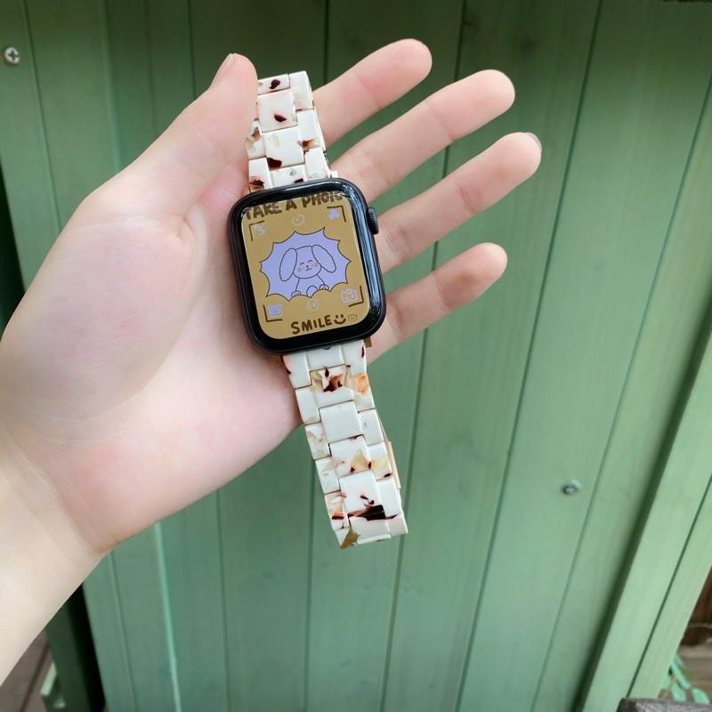 สายนาฬิกาข้อมือเรซิ่นสําหรับ Applewatch 123456