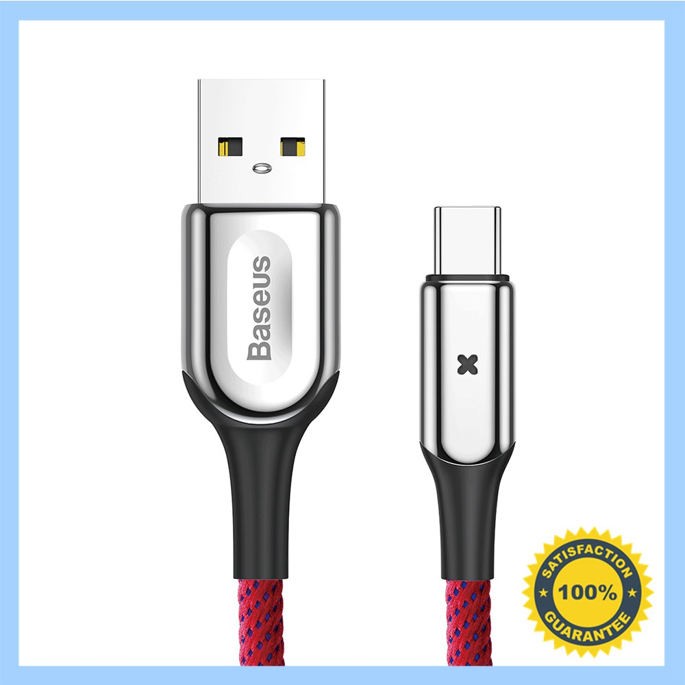 Light Up USB C Type-C Data Sync Charger Cable for Android Samsung 1Meter