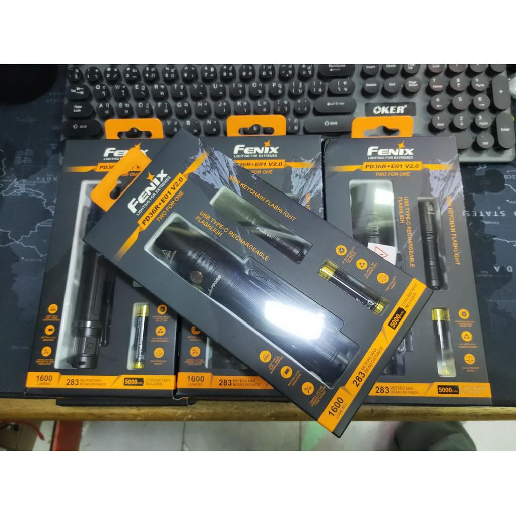 ไฟฉาย Fenix PD36R รุ่นพิเศษมาพร้อมของแถม  Fenix E01 v2 มูลค่า 420 บาท (สินค้าตัวแทนในไทยมีประกัน 3 ปี)
