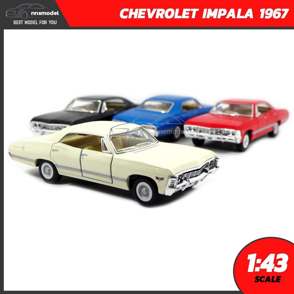 ทบทวนโมเดลรถเหล็ก CHEVROLET IMPALA 1967 (Scale 1:43)  โมเดลรถคลาสสิคจำลองเหมือนจริง Diecast Model โมเดลรถสะสม