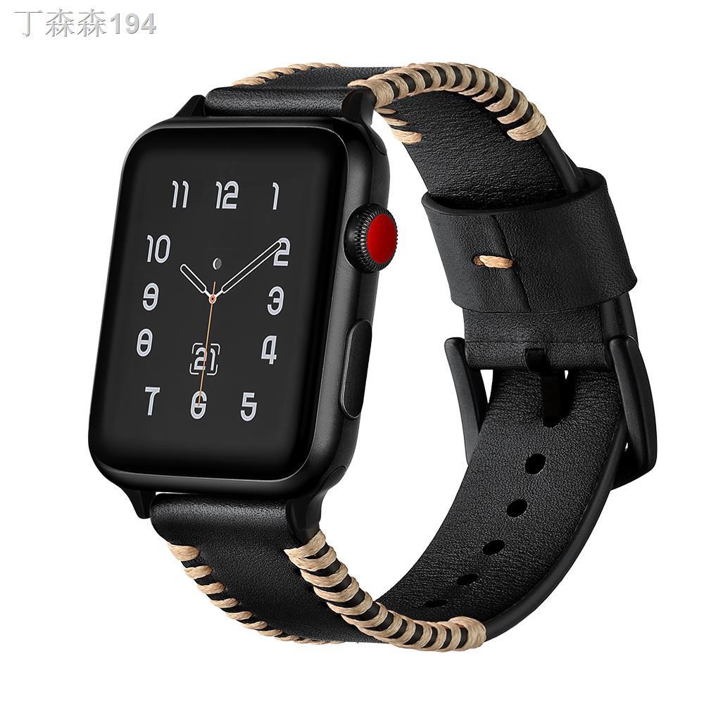 ☏❂♗เหมาะสำหรับสาย Apple Watch6 Apple Watch พร้อม S5 หนังนิ่ม iwatch3/SE/4 หญิงชาย 38/42mm Apple Watch Band Series Trendy