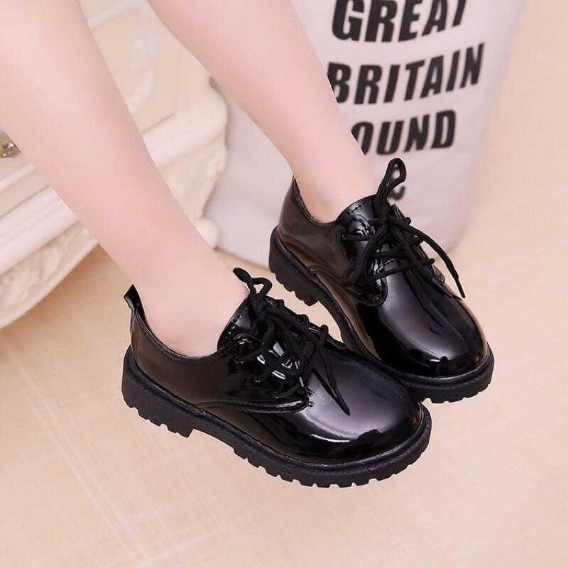รองเท้าคัชชูเด็ก หนังดำ