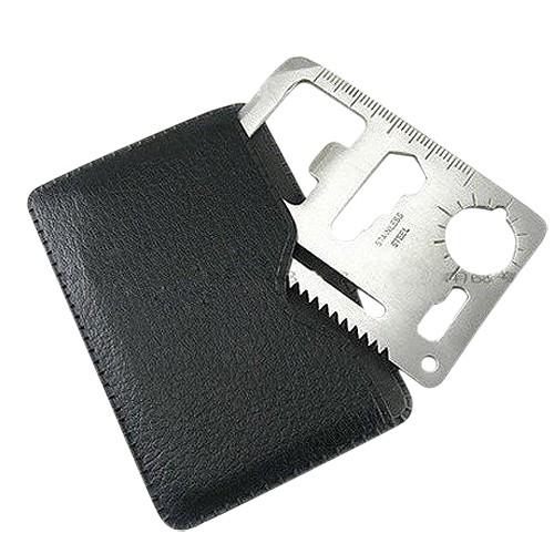 Outdoor Multi Survival Tools EDC Mini Creadit Card Set Camping 18 in 1 Kits