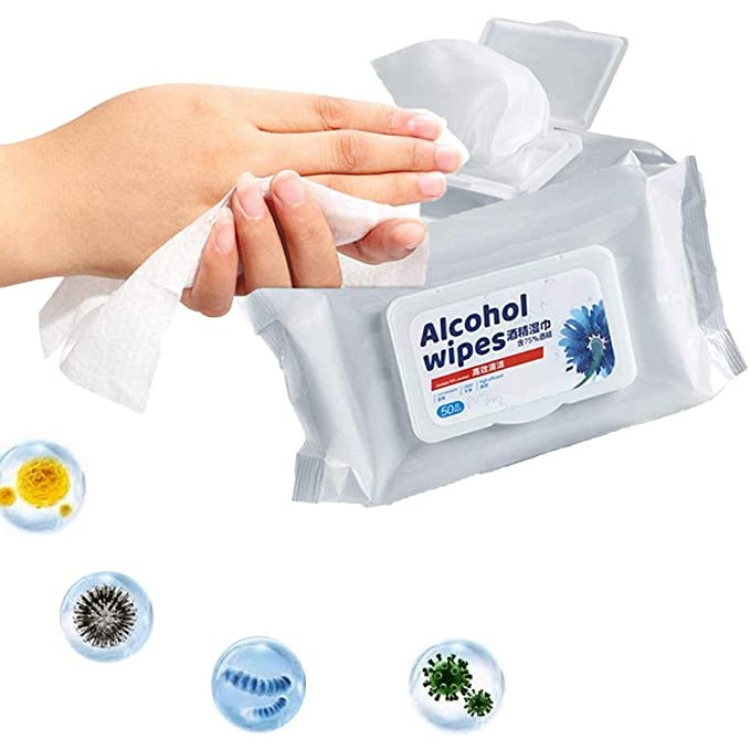 Antibacterial Cleaning Wipes,Medical Disinfection Portable Wipes Alcohol Free Wipes Hygiene Cleaning Wipes Portable Disinfection Wipes